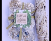 Clary Sage Tealight Candles , Tea Light Candles, CLARY SAGE , Purification  Smudge Cleansing, Protection,  Negativity Gone, By: tranquilityy
