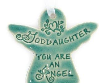 Christmas ornaments Christmas gift Goddaughter gift  religious Christmas ornament angel gift Christmas gift for Goddaughter angel ornament