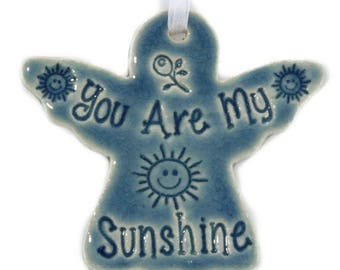 You Are My Sunshine Christmas ornament angel ornament