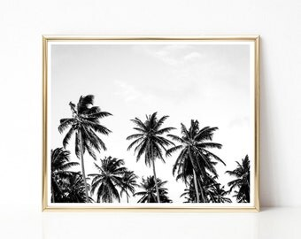 SALE -50% Palm Trees Digital Print Instant Art INSTANT DOWNLOAD Printable Wall Decor