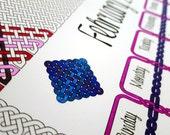 Knotwork Printable Coloring Calendar - Download