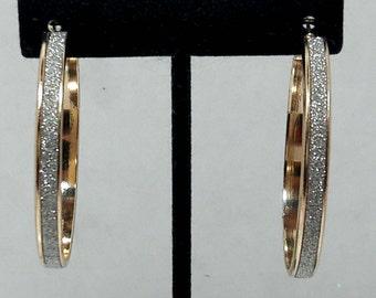 Vintage Gold/ Silver Hoop Earrings