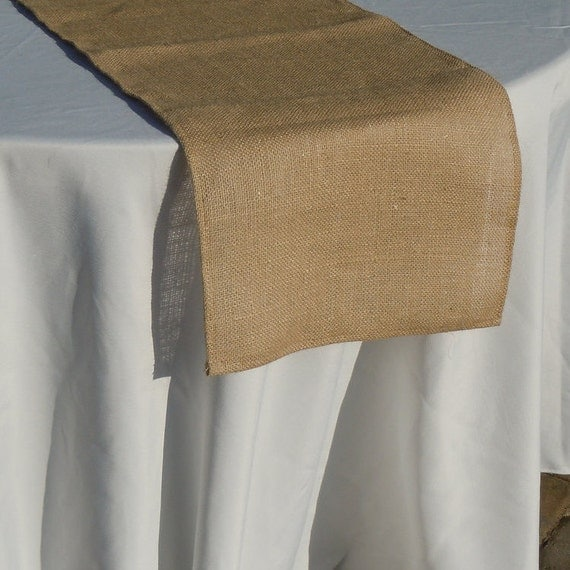 Burlap Table Runner, Tan Burlap, Wedding, Party, Shower, Home Decor, Custom Sizes Available