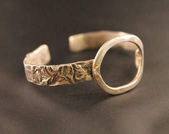Heavy Gauge Reticulated Sterling Cuff Bracelet