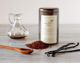 Vanilla Rooibos Herbal Tea • 4 oz. Tin • Luxury Loose Leaf Rooibos w/ Vanilla