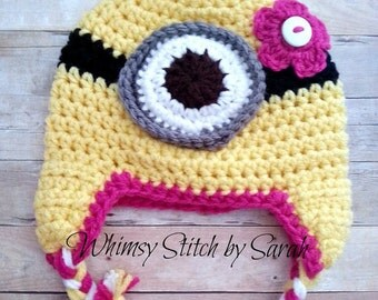 Girl Minion Hat -- Made to Order