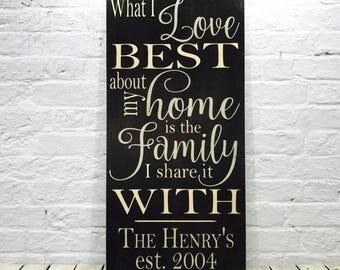 Custom family name sign, Family name wood sign, personalized family established, Family name sign, adoption family gift, Personalized family