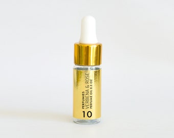 Verbena & Rose - 1/3 oz Perfume Oil  10ml  Paraben Phthalate free - verbena, meyer lemon, beach rose