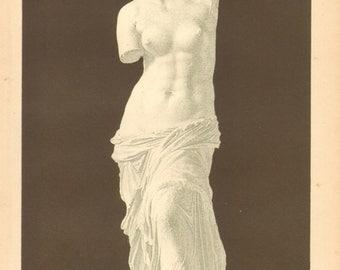 1894 Vintage Lithograph of the Aphrodite of Milos or Venus de Milo