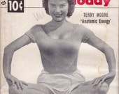 Anatomic Energy- 1950s Vintage Magazine- People Today- Actress Terry Moore- Swimsuit Issue- December 17, 1952- Pin Up Girls- Paper Ephemera