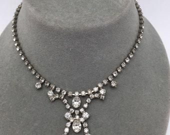 Rhinestone Necklace Vintage Rhinestone Choker