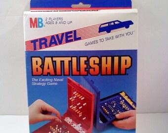 Milton Bradley Travel Game, BATTLESHIP