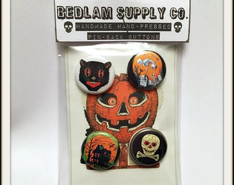 "Halloween Creepies 1"" Button Set"