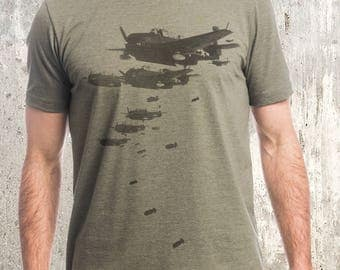 Retro Bomber Planes - Screen Printed Men's T-Shirt
