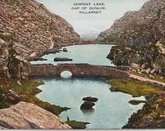 Serpent lake - Ireland - Antique postcard - Photography - Gap of Dunloe - Killarney - Free shipping Canada USA