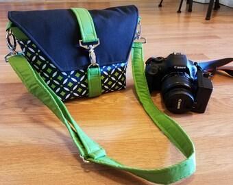 New-Camera bag-Digital SLR camera bag-Dslr camera case-purse-womens camera bag-Extra Bonus-Strap cover-Serene Green
