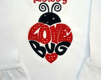 Valentine's Day Love Bug Ladybug bodysuit or shirt
