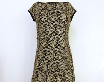 Lace Mini Dress - Vintage Style - Lace Dress - Sample Sale