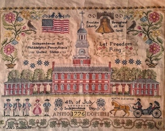 NEW Let Freedom Ring Nashville Market 2017 Lilas Studio cross stitch pattern patriotic USA
