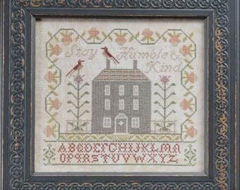 NEW Humble & Kind cross stitch patterns by La-D-Da at thecottageneedle.com house birds reproduction sampler