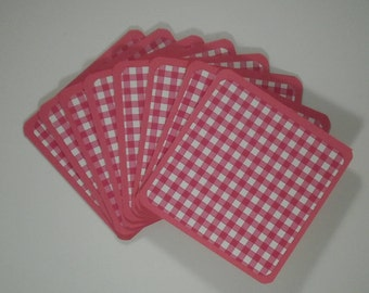 Mini Note Cards, Gingham Cards, Mini Cards, Thank You Cards, Gift Cards, Handmade Mini Cards, Set of 8