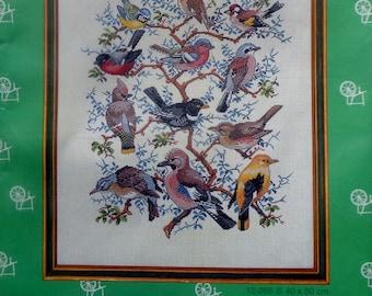 Eva Rosenstand Clara Waever TREE WITH BIRDS Counted Cross Stitch Kit