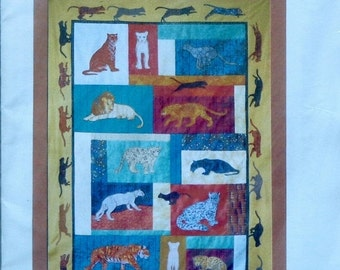 50%OFF | The Critter Pattern Works | BIG CATS | Debora Konchinsky | Machine Applique | Quilting Quilt Quilter Pattern Template