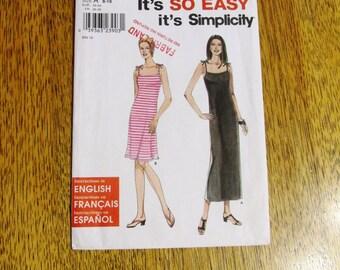 EASY Strappy Tank Dress / Knit Sheath Dress / Mini Sundress - All Sizes (8 - 18) - UNCUT FF Sewing Pattern Simplicity 9174