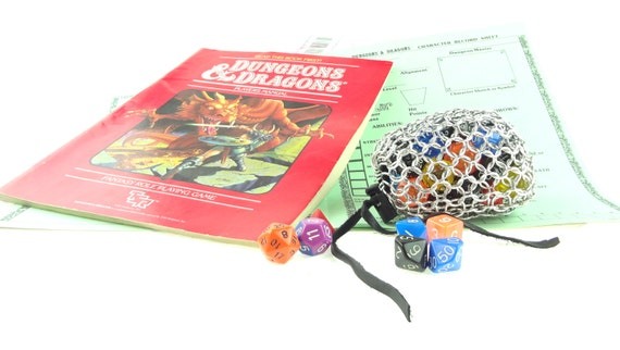 Dungeons And Dragons Dice Gaming Bag Medium Chainmaille Bag Aluminum