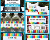 Rockstar Party Backstage Pass printable insert - INSTANT ...