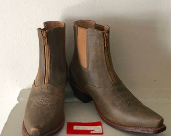Taupe Ankle Ladies Cowboy Boots by Twisted X Boots
