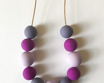 Purple Geometric Necklace Minimalist