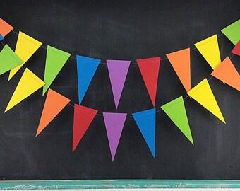 Rainbows 6ft. Pennant: Rainbow Party Garland, Art Birthday Party, 1st Birthday Boy, Photo Backdrop, 1st Birthday Girl, Carnival Birthday