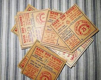 10 Random Mallo Cup Origional Play Money 1950s