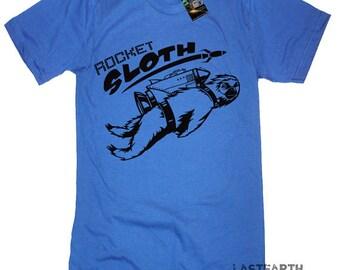 Rocket Sloth Tshirt Mens Tshirts Funny Sloth T Shirts Space Rocket Engineer Tshirt Gifts For Him Animal Tshirt Science Geeks Nerdy Tshirts