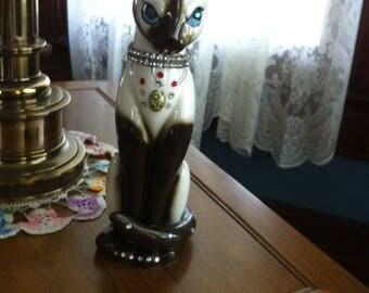 LARGE Mid Century Siamese Cat Sparkler