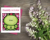 Toad Mother's Day Card - Cute Card For Her - Pun Card - Funny Mother's Day Greeting Card - Love Card - Mum Card - First Mother's Day