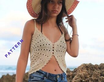Crochet Halter Top PDF, Halter Top Pattern, Crochet Shirts Tutorial