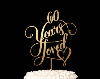 Birthday Cake Topper or Anniversary Cake Topper - Classic Collection