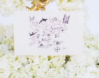 Hand Drawn Calligraphy Map. Hand Lettering & Illustration - V A N C O U V E R