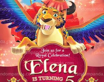 Personalize Elena of Avalor Invitation, Princess Elena Party Invite