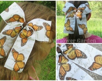Monarch butterfly hair bow, Butterfly hairbow, butterfly hair bow, monarch accessories