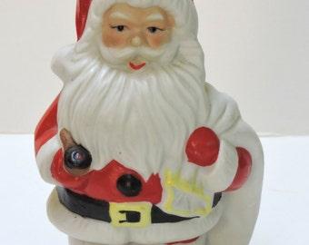 Vintage Coin Bank,Santa Claus,Keepsake,Santa Collector, Christmas Decoration,Stocking Stuffers