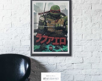 RAPH - Teenage Mutant Ninja Turtles - Raphael - Comic Book Super Hero - TMNT - High Quality - Hand Signed - Art Print / Poster