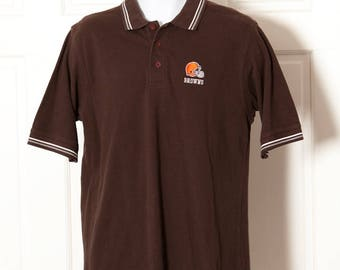 90s Cleveland BROWNS Polo Shirt - NFL - M