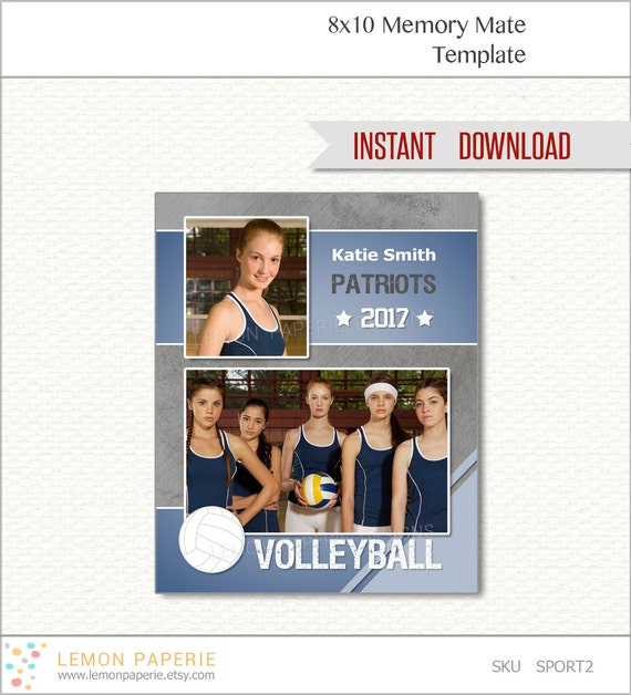 volleyball 8x10 memory mate photoshop template easily. Black Bedroom Furniture Sets. Home Design Ideas