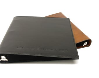 Leather 3 Ring Binder Notebook - 1/2 Inch