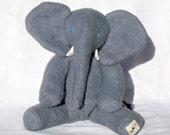 Baby African Elephant, Organic Stuffed Animal, Soft Toy, GOTS Organic Cotton