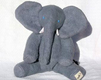 Baby African Elephant, Organic Stuffed Animal, Soft Toy, GOTS Organic Cotton