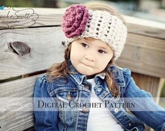 Crochet Ear Warmers Pattern 026 / Crochet Pattern / Crochet Headband Pattern / Ear Warmer Pattern